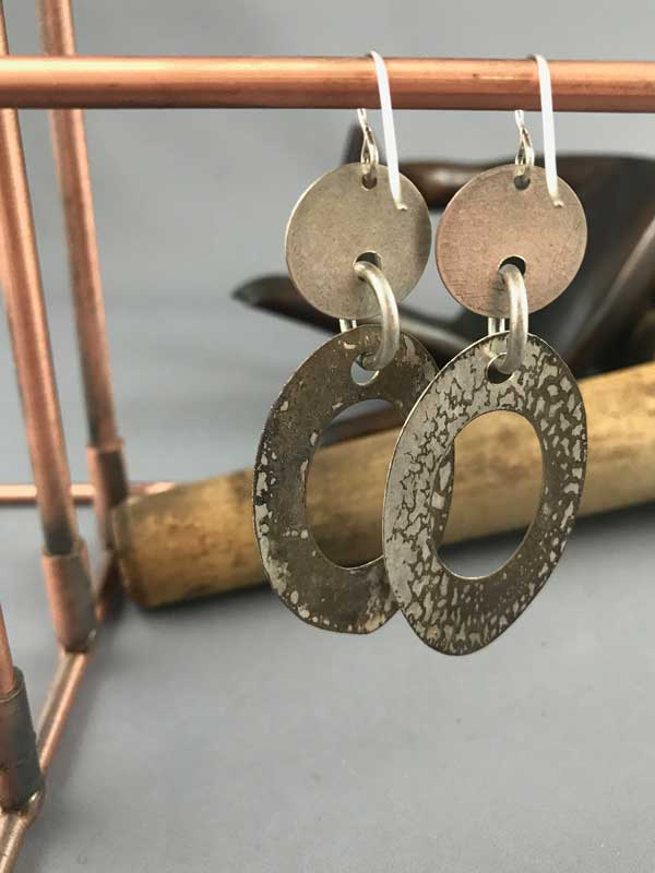 oval hoops - silver - backs