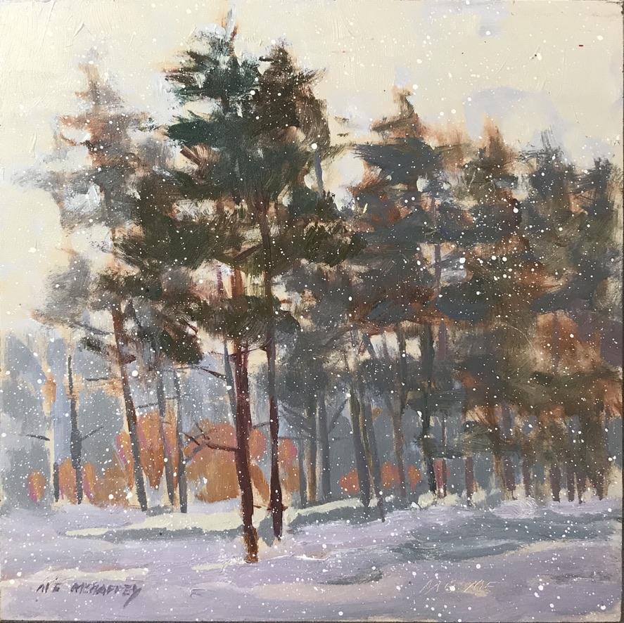 Winter Pines by Mark Mehaffey