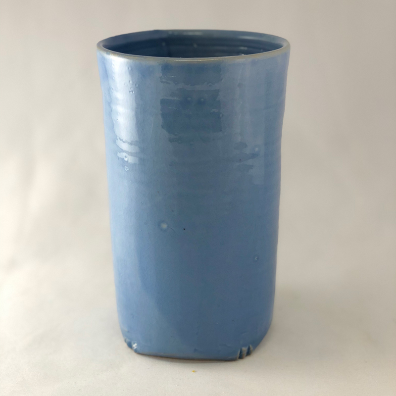 Blue Vase, Porcelain, by Cyndi Casemier