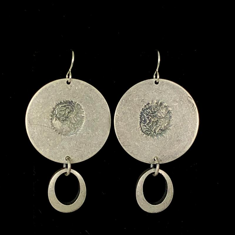 Silver Oval Drops by Lochlin Smith