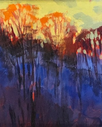 Evening Glow Acrylic Painting by Mark Mehaffey
