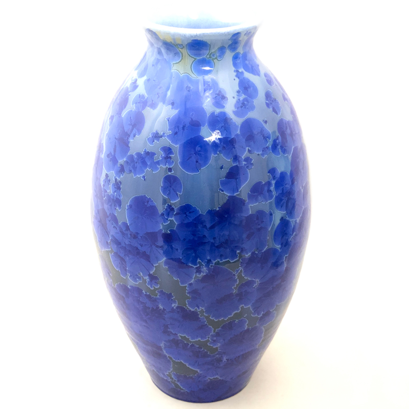 Dark Crystalline Cobalt vase