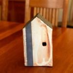 Orange Ceramic House by Cyndi Casemier