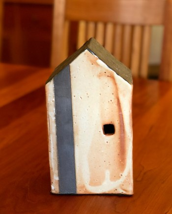 Orange Ceramic House by Cyndi Casemier