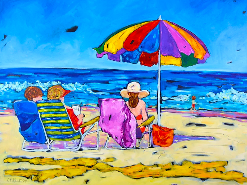 Beachgoers II by Christi Dreese