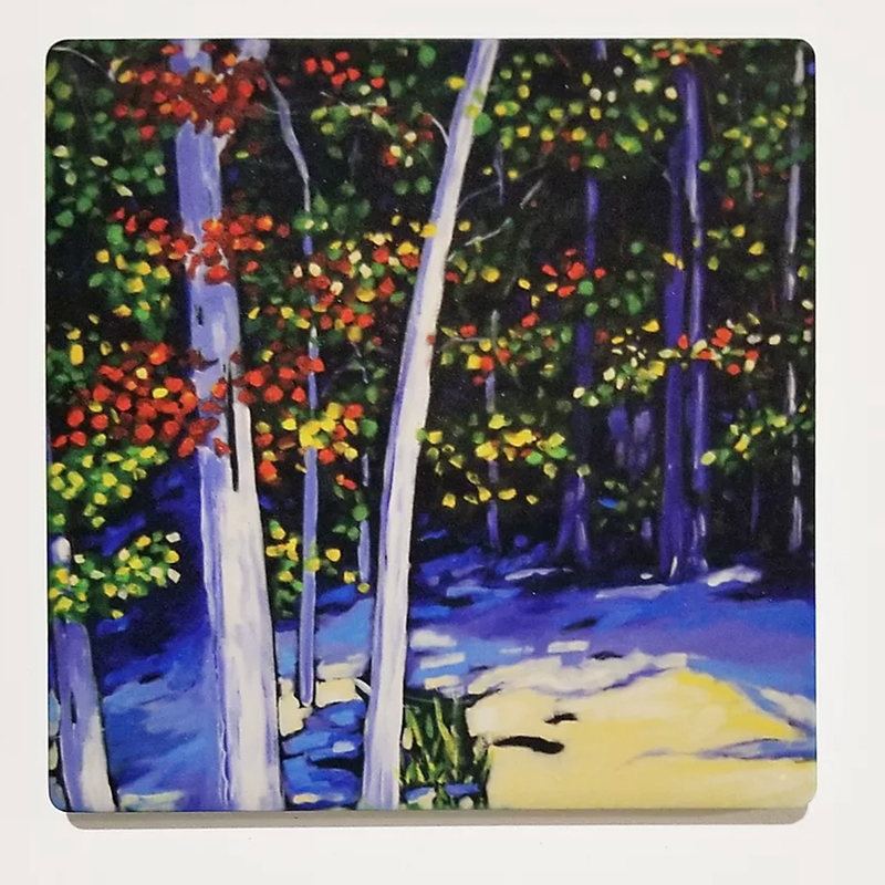 Beach Trees Coaster by Christi Dreese
