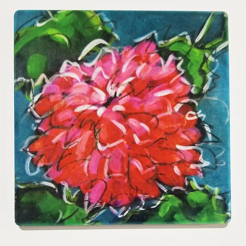 Chrysanthemum III Coaster by Christi Dreese