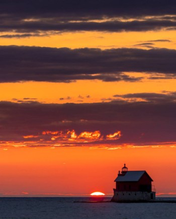 Foghorn House Sunset Art Photograph by Bob Walma