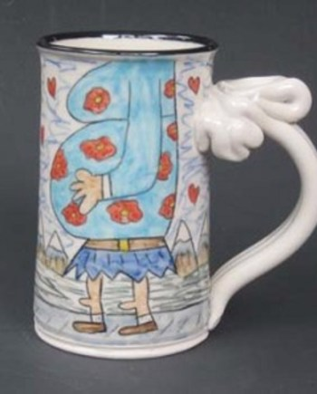 handmade mug Big Foot's Love Child