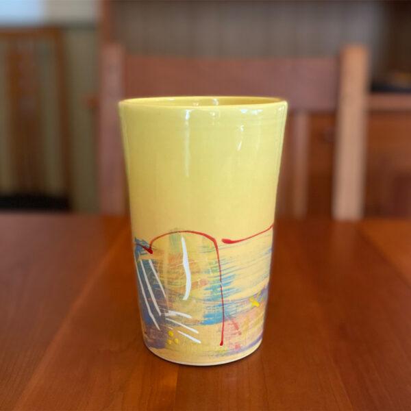 Handmade Yellow Utensil Holder by Michael Kifer