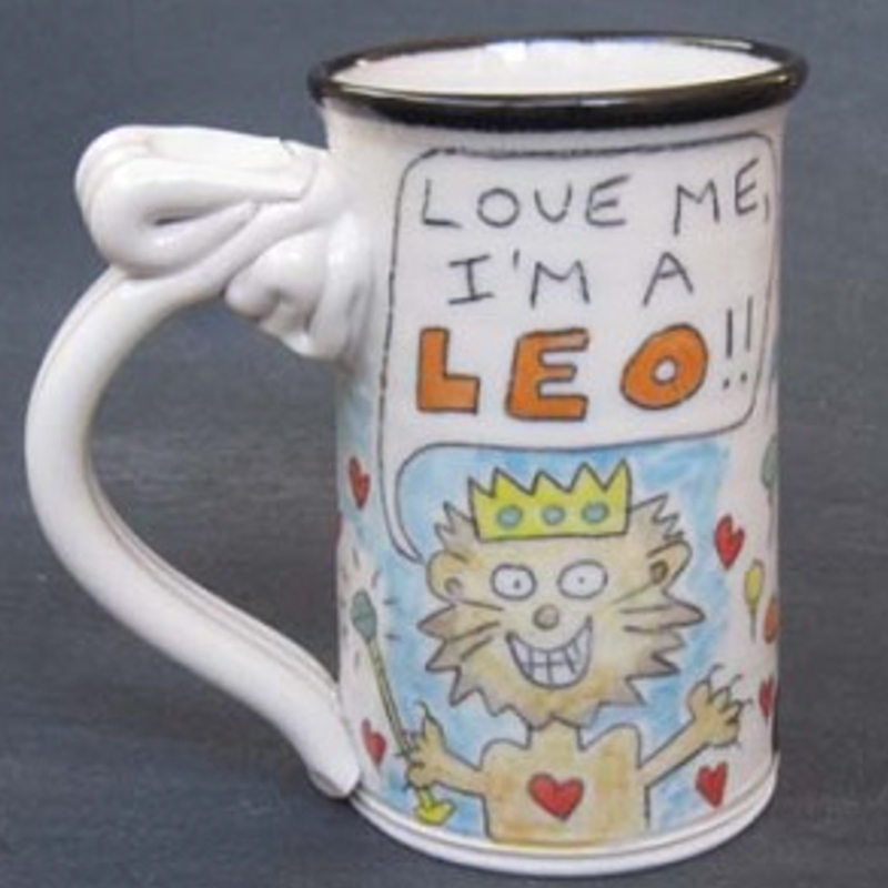 Leo Astrological Mug by Tom Edwards