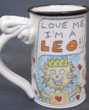 Leo Astrological Mug by Tom Edwards