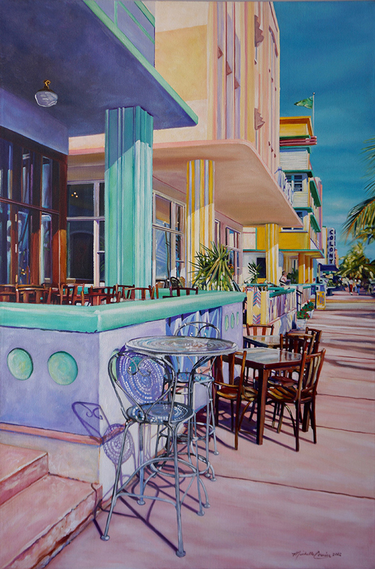 full size photo of complete painting, Ocean Drive