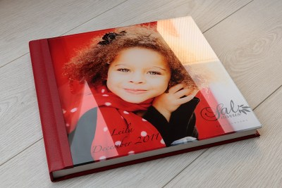 "Album - 12""x12"" - Acrylic Cover - Material = Red Leather Look (12)"