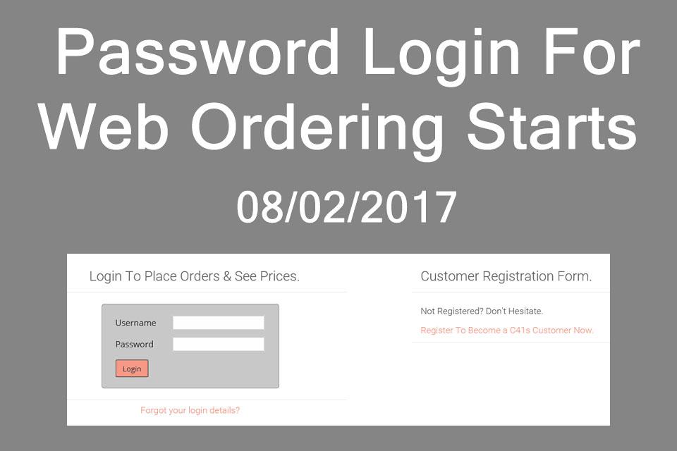 C41s Order login starts 08-02-2017