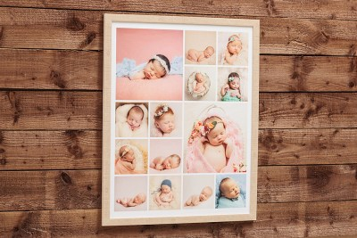"""Natural Frame - 30""""x24"""" - Template Used = None - Frame = Cream Thin / Mount - None / Glass = No - Lustre Heatsealed"""