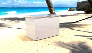 Solar Freezer on a Beach