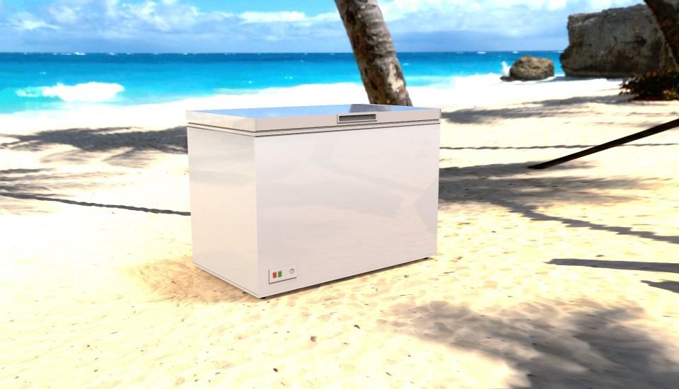 Solar Freezer on a Beach