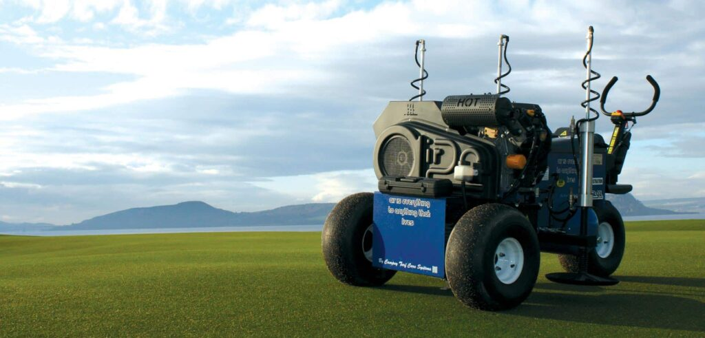 Air2g2 turf aerating machine.