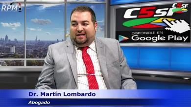 Photo of C5SF –  Dr. Federico Lombardo – Abogado (Estilo RPM 2020) – 02 marzo 2020