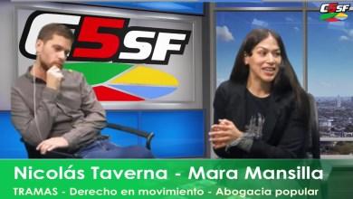 Photo of C5SF –  Nicolás Taverna – Mara Mansilla – «TRAMAS» – Derecho en movimiento –  Abogacia popular