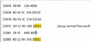 C64 Memory location $D011