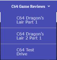 Commodore 64 menus