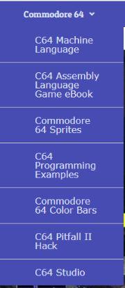 C64 programming menus