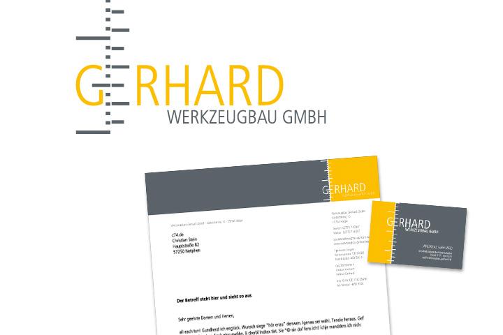 Grafikdesign für Werkzeugbau Gerhard
