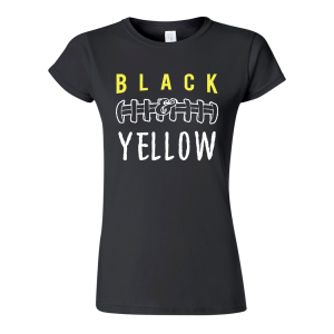 Black and Yellow T-shirt Women's