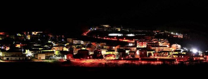 Immagine di una parte sud di Ca'Gallo, scattata di notte da un amatore.