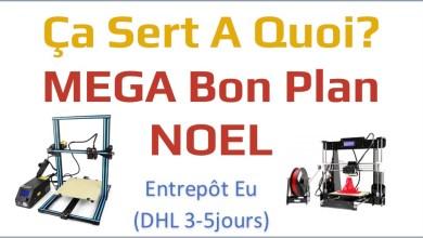 Photo of MEGA Bon plan cadeaux Noel : 2 imprimantes 3D en promo et livrées depuis l'Europe en DHL 3-5 jours