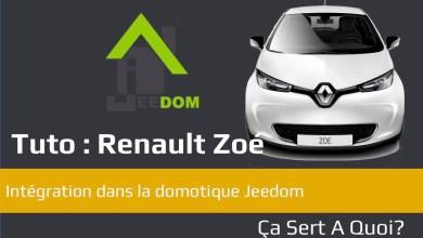 Photo de Tuto : Connecter une Renault Zoé avec la domotique Jeedom