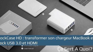 Photo de Dockcase Adapter HD : transformer son chargeur MacBook Pro en dock USB 3.0 et HDMI