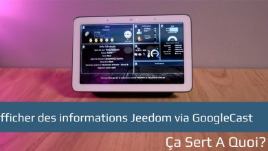 Photo de Afficher des informations Jeedom via GoogleCast