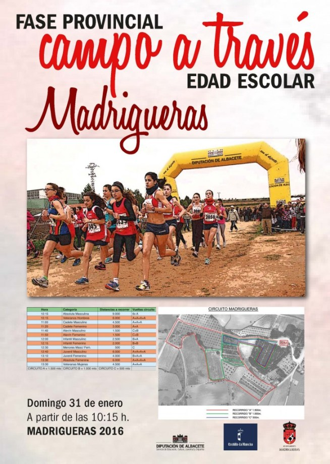 Cartel campo a traves Madrigueras 16