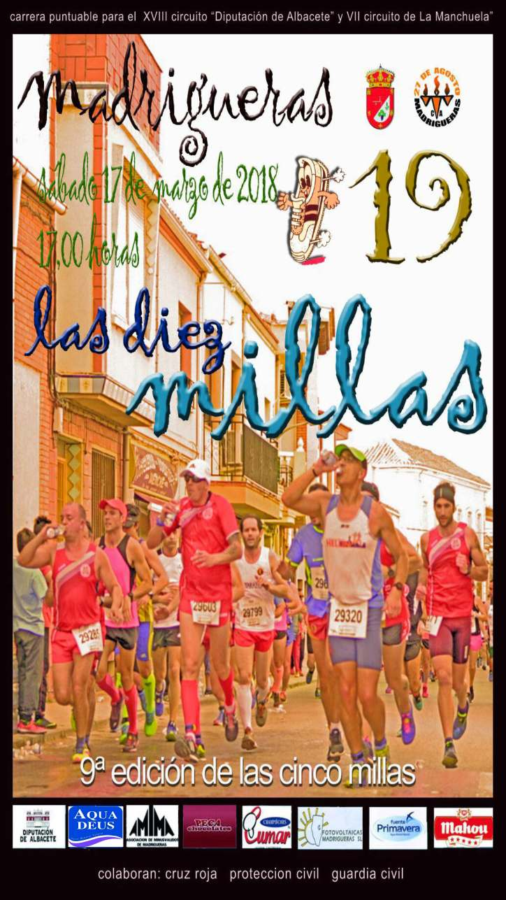 cartel 10 millas 2018