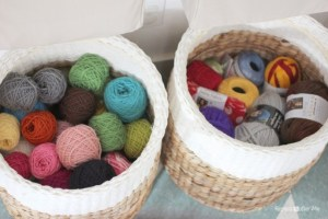 yarn in baskets
