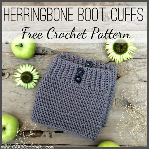 Crochet Boot Cuff Pattern Herringbone Boot Cuff Free Crochet Pattern