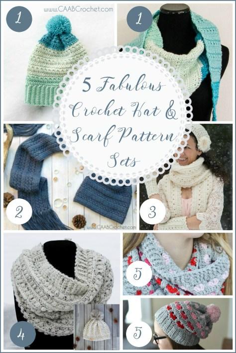 5 Fabulous Crochet Hat And Scarf Pattern Sets Matching Crochet Pattern