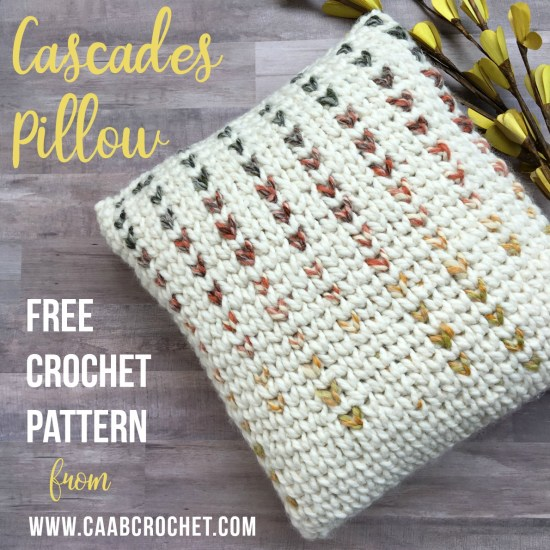 Cascades Pillow Crochet Pillow Pattern Free Crochet Pattern