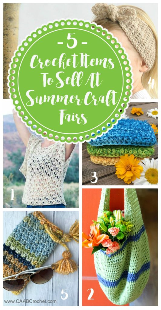Crochet Items To Sell At Summer Craft Fairs Ideas For Summer Crochet