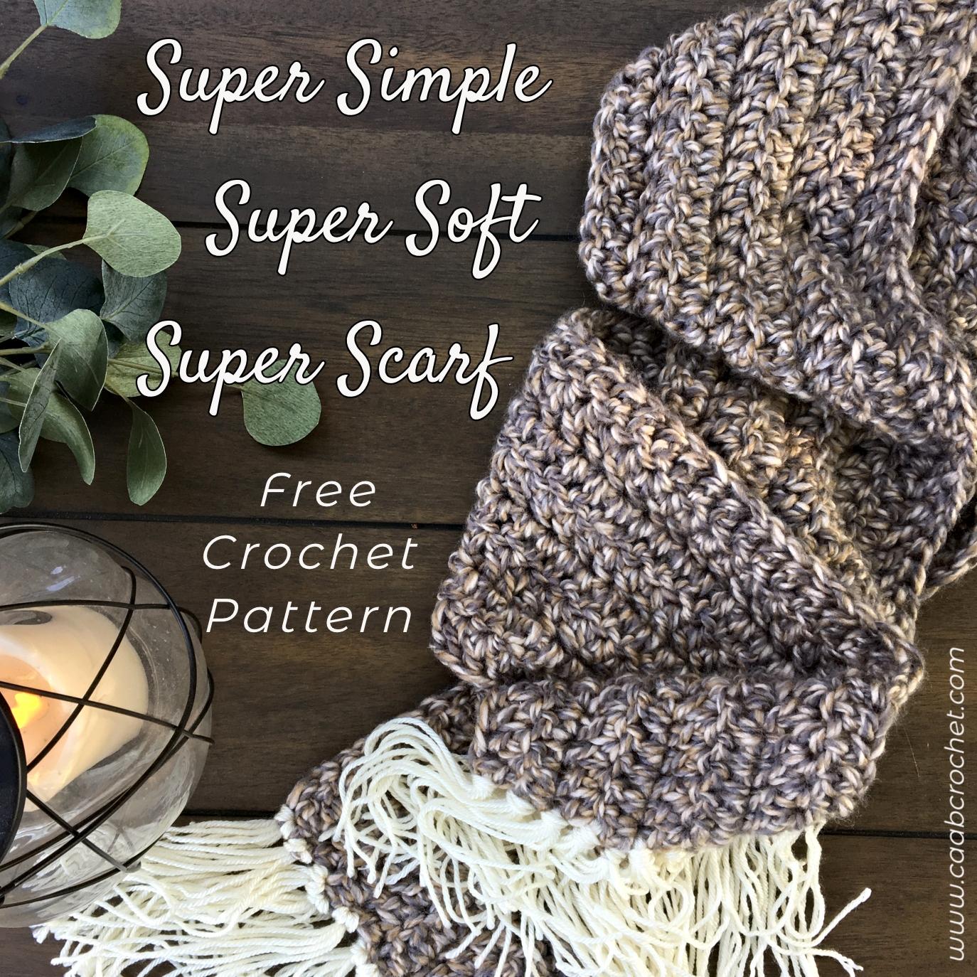 Super Simple Super Soft Super Scarf Pattern Cute As A Button