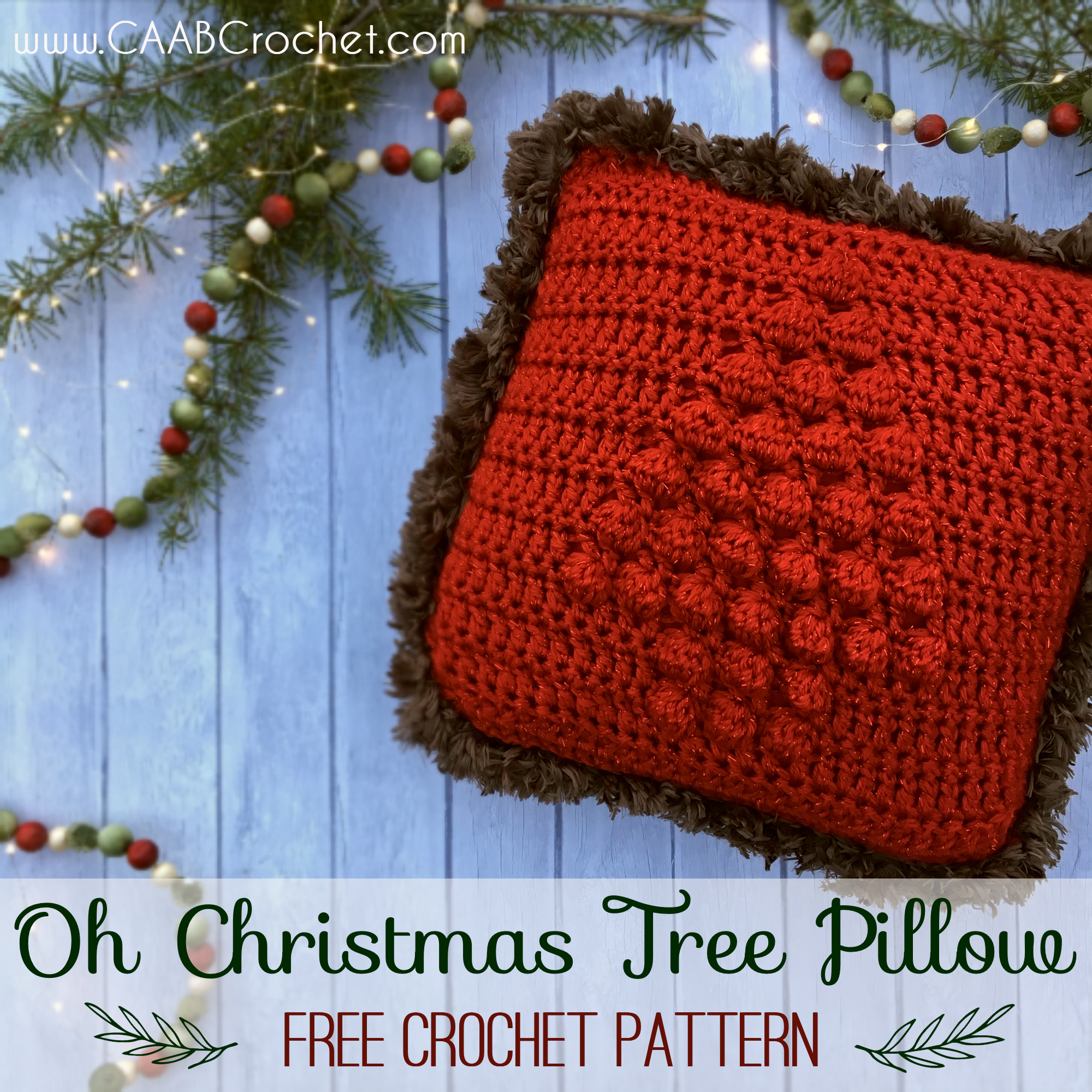 Oh Christmas Tree Pillow A Free Crochet Christmas Pillow Pattern