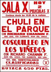 The Richard Channin Foundation. Cartel Sala X, 2001. Xilografía. 85 x 35 cm c/u