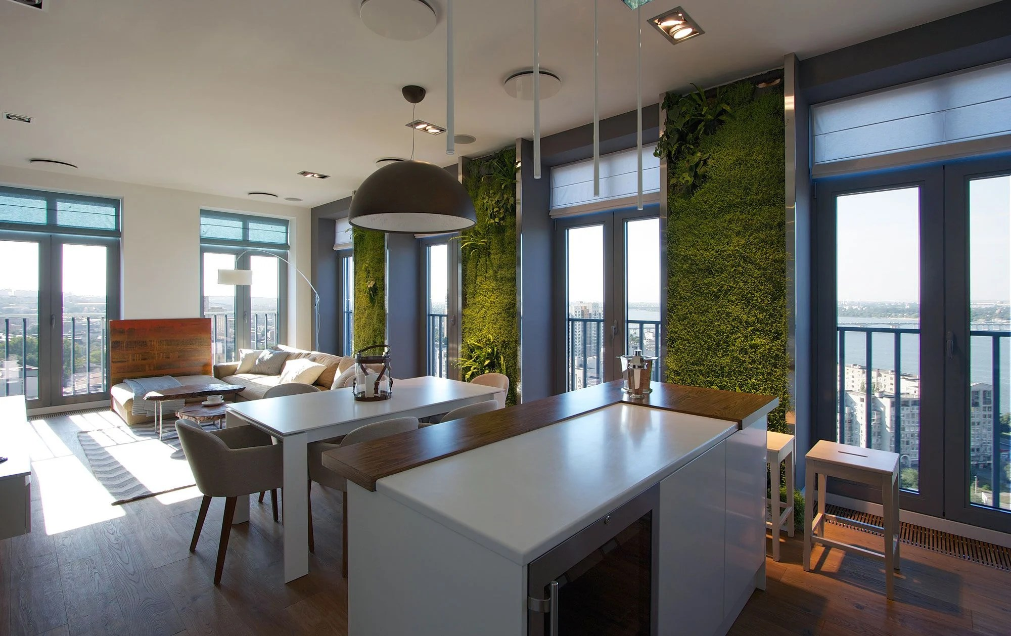 Green Grass Walls Apartment by SVOYA Studio-08