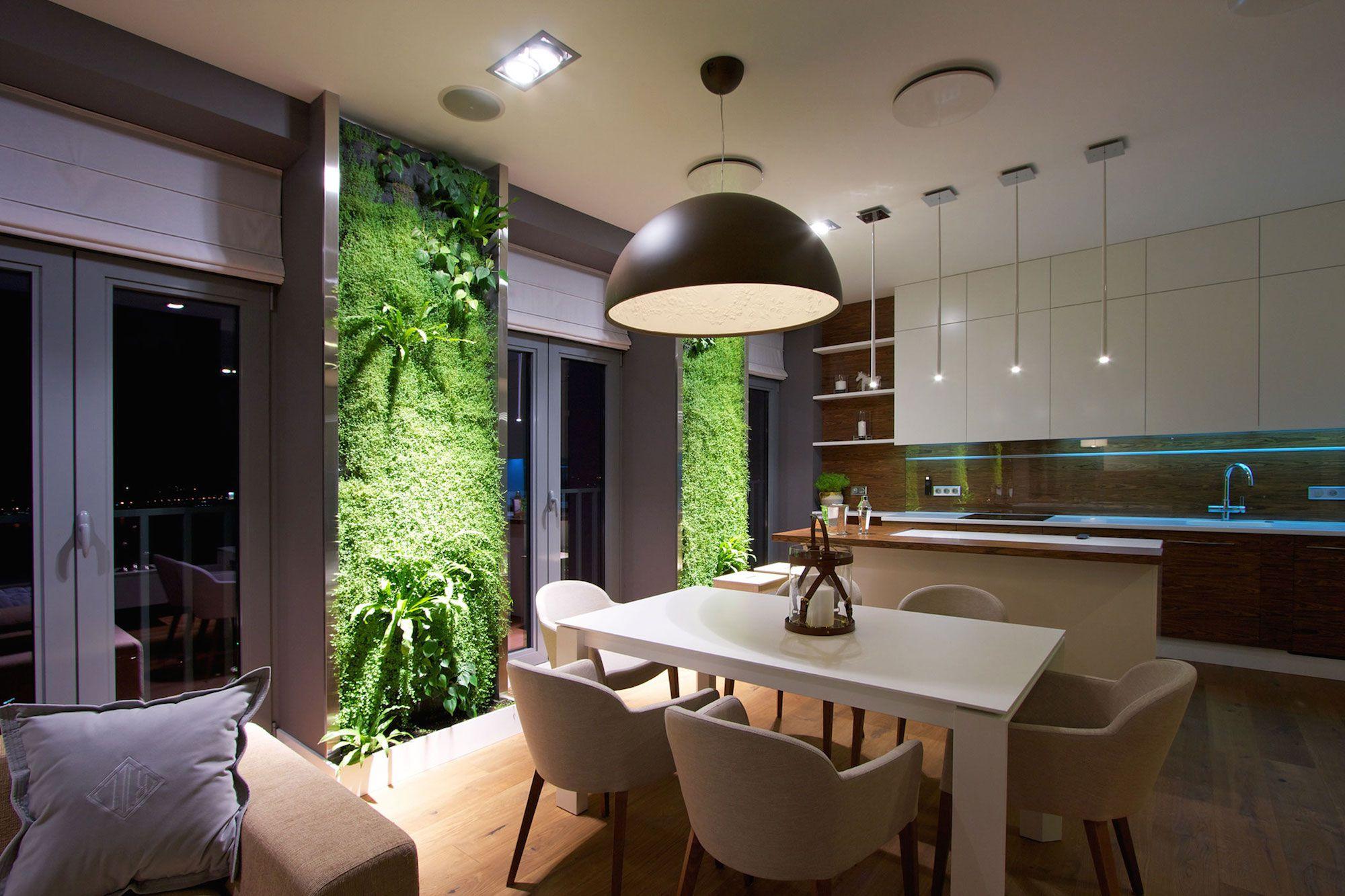 Green Grass Walls Apartment by SVOYA Studio-21