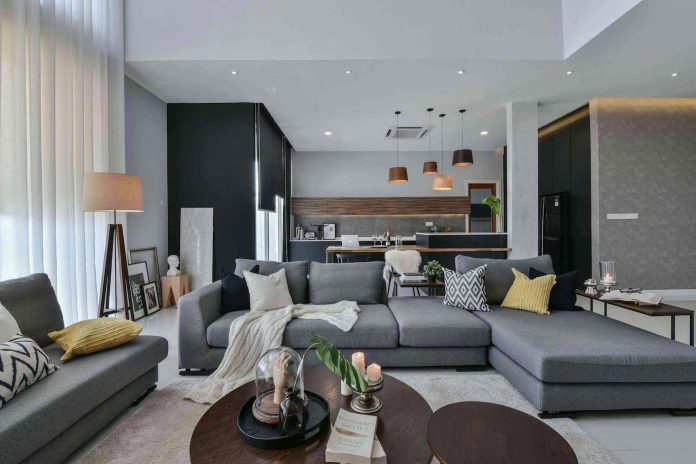 Wils 11 Residence Living Room With A Double Volume Wood Wall Feature Matched With Sheer