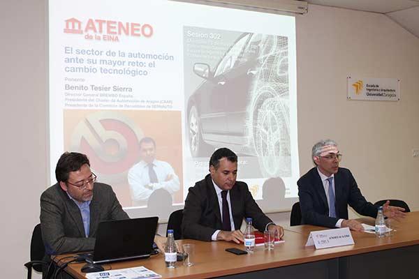 Benito Tesier participa en el ATENEO de la EINA