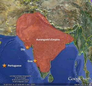 The Mughal Empire is at its political zenith, under the last of the Great Mughal Emperors, Aurangzeb.